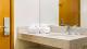 Go Inn Belo Horizonte - Além de secador de cabelo, amenities e espaçoso banheiro.