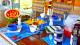 Villa Palmeira Azul - Os dias começam com café da manhã incluso na tarifa, de culinária caseira servida em estilo buffet.