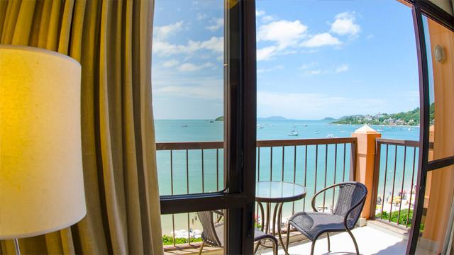 Jurerê Beach Village - Que tal acordar com uma vista privilegiada como essa? Um sonho!