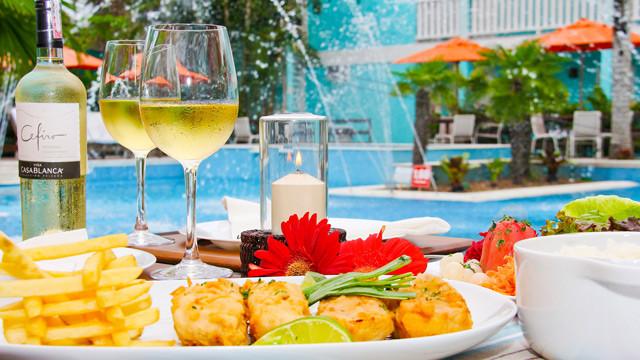 Pousada Port Louis - Mediante custo à parte, o local oferece também outras refeições com especialidade em frutos do mar!